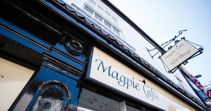 Exterior Painting of Magpie Crafts Nantwich