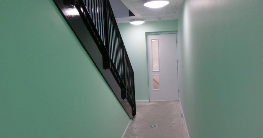 Kier Developments, hall walls and staircase