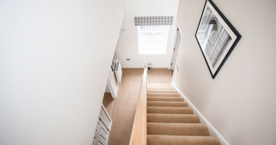 hall stairs and landing with airless sprayer